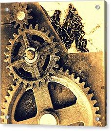 Heavy Metal Acrylic Print by Victoria Maxon