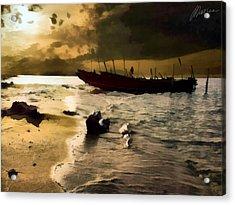 Heavy Sky Acrylic Print by Marina Likholat