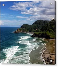 Heceta Head Acrylic Print by Darren  White