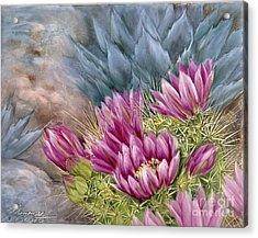 Hedgehog In Bloom Acrylic Print by Summer Celeste