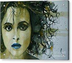 Helena Bonham Carter Acrylic Print by Paul Lovering