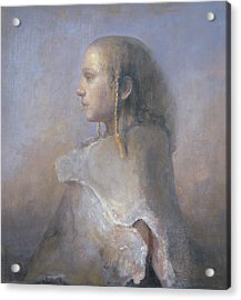 Helene In Profile  Acrylic Print by Odd Nerdrum