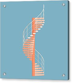 Helical Stairs Acrylic Print by Peter Cassidy