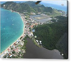 Helicopter View St. Martin Acrylic Print by Shop Caribbean