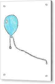 Helium Balloon Clip Acrylic Print by Giuliano Capogrossi Colognesi