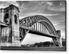Hell Gate Bw Acrylic Print by JC Findley