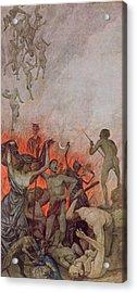 Hell Acrylic Print by Hans Thoma