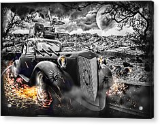 Hell Of A Ride Acrylic Print by Wendy White