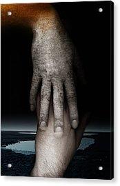 Helping Hand Acrylic Print by Johan Lilja