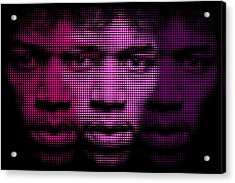 Hendrix - Purple Hazy Acrylic Print by Bobby Zeik