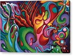 Hendrix Voodoo Magick Acrylic Print by Tiffany Davis-Rustam