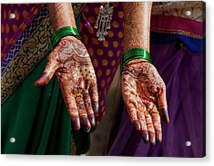 Henna Decoration Acrylic Print by Tom Norring