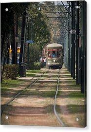 Henry Clay Avenue Streetcar Acrylic Print by Ray Devlin