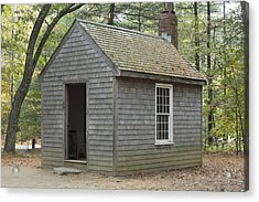 Henry David Thoreaus Cabin Acrylic Print by Science Stock Photography