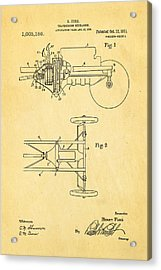 Henry Ford Transmission Mechanism Patent Art 1911 Acrylic Print by Ian Monk