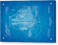 Henry Ford Transmission Mechanism Patent Art 2 1911 Blueprint Acrylic Print by Ian Monk