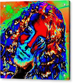 Her Bitch Under The Influence Opana Oxymorphone Acrylic Print by Sir Josef Social Critic - ART