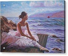 Her Dream Acrylic Print by Elena Sokolova