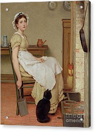 Her First Place Acrylic Print by George Dunlop Leslie