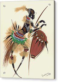 Her Rhythm And Blues Acrylic Print by Oglafa Ebitari Perrin
