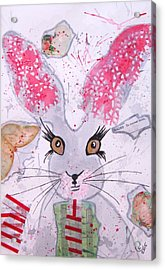 Herby Hare Acrylic Print by Karen  Connolly