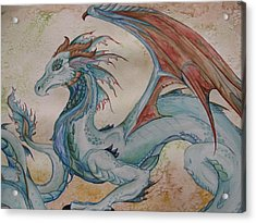 Here Be A Dragon Acrylic Print by Nicole Caldwell