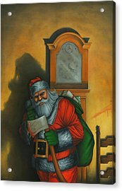 Here Comes Santa Claus Acrylic Print by Stacy Drum