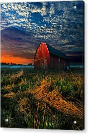 Here Comes The Light Acrylic Print by Phil Koch