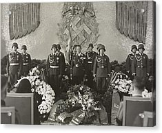Hermann Goering At The Funeral Acrylic Print by Everett
