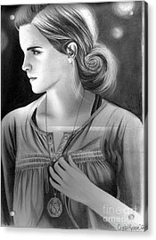Hermione Granger Acrylic Print by Crystal Rosene