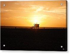 Hermosa Beach Sunset Acrylic Print by Scott Pellegrin