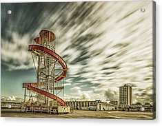 Herne Bay - Helter Skelter Acrylic Print by Ian Hufton