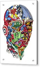 Heroic Mind Acrylic Print by John Ashton Golden