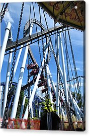 Hershey Park - Great Bear Roller Coaster - 121216 Acrylic Print by DC Photographer