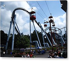 Hershey Park - Great Bear Roller Coaster - 12125 Acrylic Print by DC Photographer