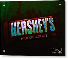 Hershey's Chocolate Bar Acrylic Print by Wingsdomain Art and Photography