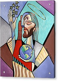 Hes Got The Whole World In His Hand Acrylic Print by Anthony Falbo