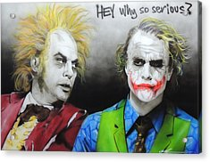 Health Ledger - ' Hey Why So Serious? ' Acrylic Print by Christian Chapman Art