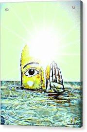 Hi I Am Your Conscience Acrylic Print by Paulo Zerbato