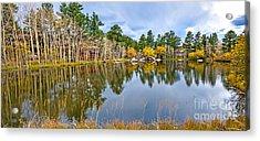 Hiawatha Lake Panorama Acrylic Print by Baywest Imaging