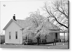 Hickory Grove Meeting House Acrylic Print by Corrie Blackshear