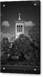 Hidden Church On Thames Acrylic Print by Maj Seda