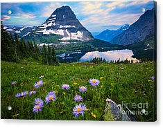 Aster Acrylic Print featuring the photograph Hidden Lake by Inge Johnsson