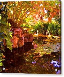 Hidden Pond Acrylic Print by Amy Vangsgard