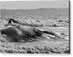 Higgins Beach Surfers Acrylic Print by Joe Faragalli