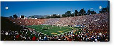 High Angle View Of Spectators Watching Acrylic Print by Panoramic Images