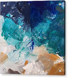 High As A Mountain- Contemporary Abstract Painting Acrylic Print by Linda Woods