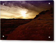 High Desert Clouds Acrylic Print by Jeff Swan