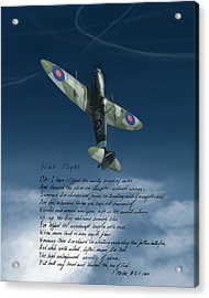 High Flight Acrylic Print by Hangar B Productions
