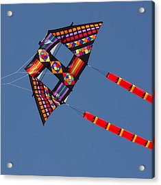 High Flying Kite Acrylic Print by Art Block Collections